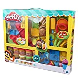 Play-Doh Knet-Bistro Spieknete Super Set Knete mit über 40 Teilen Zubehör