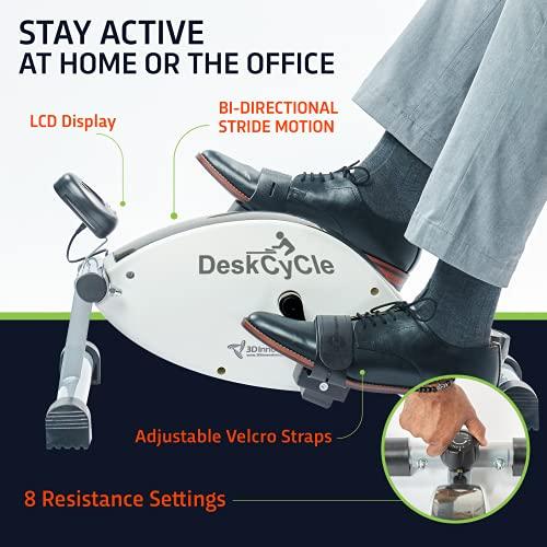 DeskCycle Under Desk Bike Pedal Exerciser - Desk Cycle Mini Exercise Peddler - Stationary Cycle & Mini Exercise Bike for Home Workout & Desk Exercise Equipment