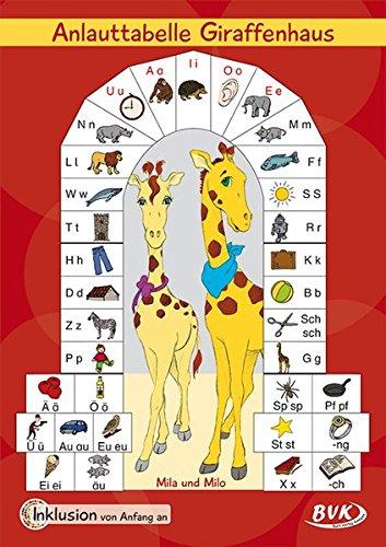 Inklusion von Anfang an: Deutsch - Anlauttabelle Giraffenhaus in Postergröße