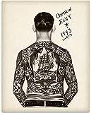 Tattooed Man - Captain Elvy - 11x14 Unframed Art Print - Great Tattoo Shop Decor and Gift Under $15 for Tattoo Artists