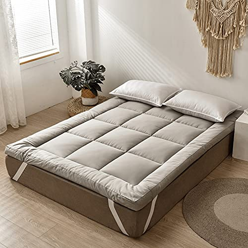 PWQHT Colchón de futon Plegable Japonesa Tradicional, Colchón De Piso Acolchado Color sólido Comodo Tatami Estera para los huéspedes, Habitaciones Dormitorio, Camping(Color: B 6cm,Size: 150x200cm)