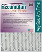 Accumulair Diamond 14x18x2 (13.5x17.5x1.75) MERV 13 Air Filter/Furnace Filters (2 Pack)