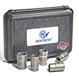 ROCKETSOCKET | Made in USA | Extraction Socket Set | 7 Pieces, impact grade | Remove stripped, frozen, rounded-off Bolts, Nuts & Screws | American Drawn Steel