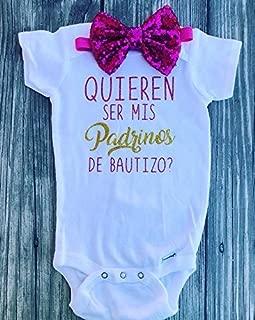 Quieren ser mis padrinos 12mo padrinos proposal - godchild Bautizo god parents bodysuit Spanish bodysuit baptism Padrinos de bautizo godparents baptism