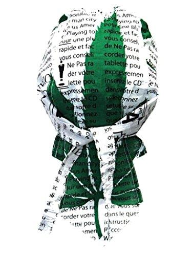 armardi b Bandana casquette Feuille de chanvre Vert Blanc
