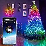 Lelesta - Stringa di luci LED Bluetooth USB per decorazione albero di Natale, app telecomando scolorimento, per Natale, Natale, festa di nozze, decorazione ornamenti (20 M, 200 Led.)