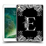 Head Case Designs Officiel Nature Magick Lettre E Monogramme Fleurs B&W 1 Coque Dure pour l'arrière...