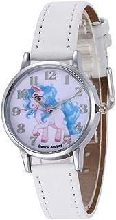 PPpanda Girls Unicorn Wrist Watch Leather Band Analog Display Quartz Watch Xmas Gift