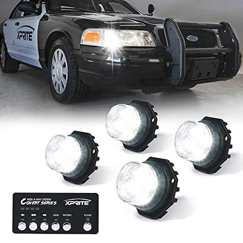 Xprite White LED Hideaway Strobe Lights Kit, 20 Flashing...