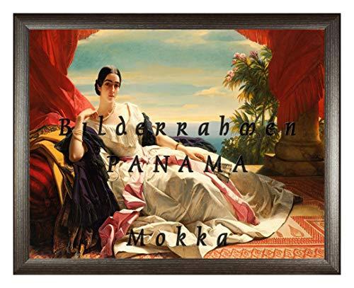 Homedecoration Bilderrahmen Panama 34 x 43 cm Mokka mit Acrylglas Antireflex 1 mmm