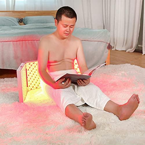 NUB Lámpara De Terapia De Luz Roja Roja 660nm E Infrarrojo Cercano 850nm, Terapia De Luz Led De Cuerpo Completo para El Alivio De La Piel Y El Dolor 45W