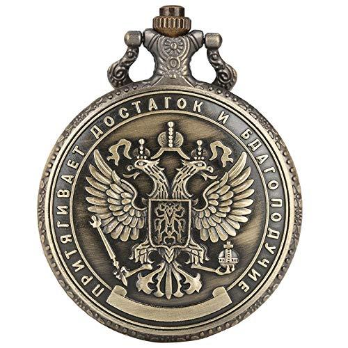 KKDS Clásico Artesanía Copia Replica Rusia 1 millón de rubles Insignia Conmemorativa Doble Cara Plateada Rublo Rublo Collection Reloj de Bolsillo para el cumpleaños del día del Padre