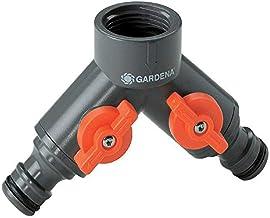"""GARDENA 2-wegventiel: Waterverdeler voor waterkraan met schroefdraad 33,3 mm (G 1""""), voor het aansluiten van twee apparate..."""