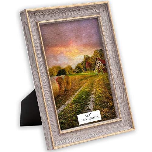 TERESA'S COLLECTIONS Fotolijsten Kunststof lijst 13 x 18 cm Plastic fotolijst Gouden lijst in goudkleur Fotolijst in vintage stijl met acrylglas om op te hangen of