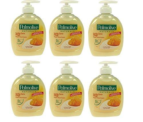 Palmolive Flüssigseife Milch & Honig , 6er Pack (6 x 300 ml)