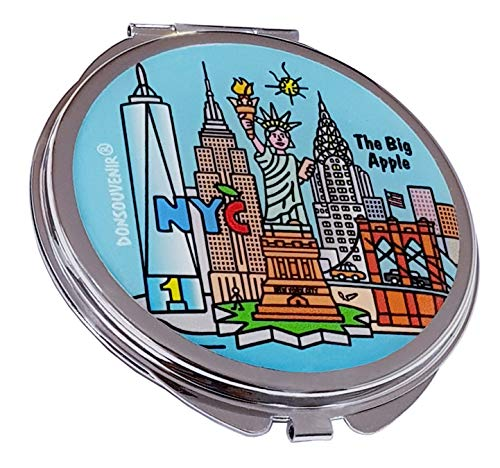 DONSOUVENIR Miroir New York Miroir métallique à la Main. Modèle : New York The Big Apple