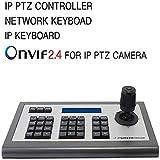 WZHESS Teclado IP 4D Controlador PTZ IP, Protocolo de Onvif Teclado con el Monitor LCD de Pantalla para la cámara IP PTZ Compatible Hikvision/TVT/Uniview/XM/Jovision