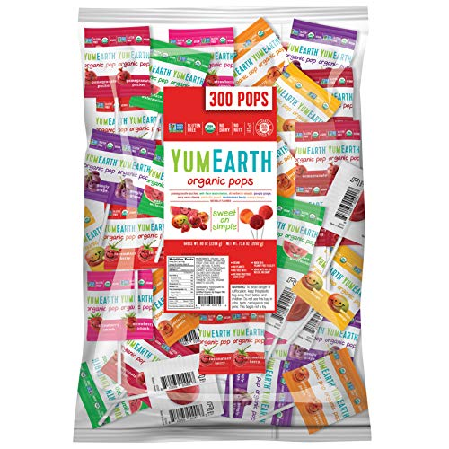 YumEarth Organic Lollipops Assorted Flavors 80 Ounce Pack of 1