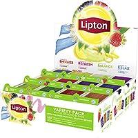 Lipton Coffret Thés et Infusions, Assortiment de 12 Parfums 180 Sachets
