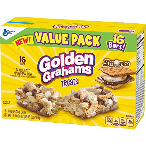 Golden Grahams S'mores Chocolate Marshmallow Breakfast Bars, 16 Bars (Pack of 4)