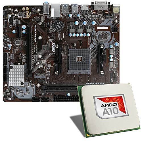 AMD A10-9700 / MSI A320M-A PRO MAX Mainboard Bundle | CSL PC Aufrüstkit | AMD A10-9700 APU 4X 3500 MHz, Radeon R7, GigLAN, 7.1 Sound | Aufrüstset | PC Tuning Kit