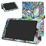 Mama Mouth PU Leder Folio 2-folding Ständer Cover mit Stylus Halterung für 20,3cm LG G Pad X II 8.0Plus T-Mobile V530Android 7.0Tablet Love Baum