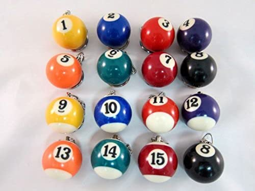 Authentic material  It is most suitable for 16 pcs   set premium gift billiard ball Keychain  (japan import)
