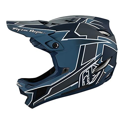 Troy Lee Designs Adult | Downhill | Mountain Bike | BMX | Full Face D4 Composite Helmet Graph W/MIPS (Marine, LG)