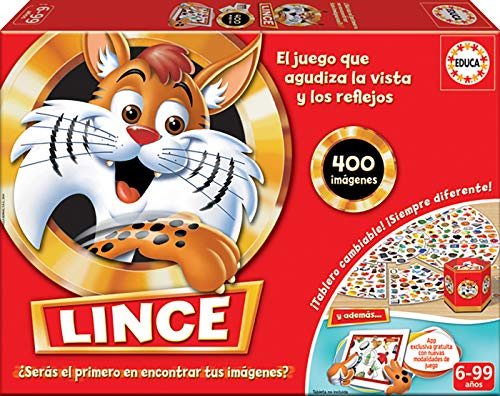 Educa Borrás- Lince Edición Familia con App, Multicolor, 400 Imágenes (16146)