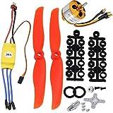 Dancepandas 2212 2200kv Motor Sin Escobillas 30A ESC 6035 Hélice Compatible, Controlador de Velocidad Motor Brushless RC para Drone