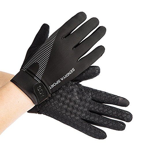 Workout Gloves, Full Palm Protection & Extra Grip, Gym Gloves for Weight Lifting, Training, Fitness, Exercise (Men & Women), Black, Large