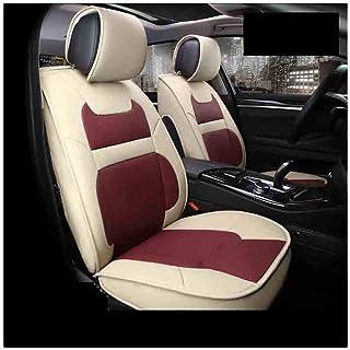 JKHOIUH Fundas de cuero for los asientos delanteros, fundas protectoras multicolores for el asiento del automóvil, se ajustan a la mayoría de los vehículos, automóviles, sedán, camioneta, todoterreno,