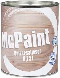 McPaint universale Holzlasur für Innen und Außen besonders UV beständig Farbton Nussbaum Dunkel 0,75L - Andere Farbtöne verfügbar