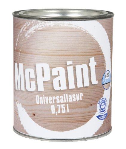 McPaint universale Holzlasur für Innen und Außen besonders UV beständig Farbton Eiche 0,75L - Andere Farbtöne verfügbar