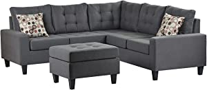 """Beyamis Sectional Couches for Living Room Modular Sectional Sofa Set L Shaped Button-Tufted 5 Seater Sofa Couches Living Furniture Set 82.7""""x 82.7"""