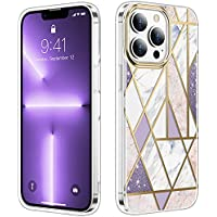 Justcool Marble Design Anti-Yellow Shockproof TPU Bumper Cell Phone Case for 6.1