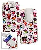 Emartbuy® Multi Coloured Owls Print Premium PU Leather