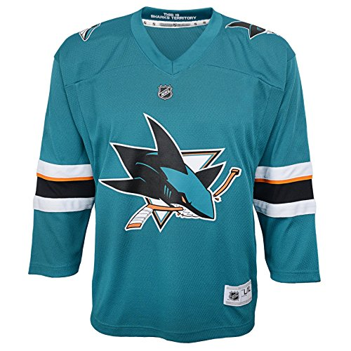Outerstuff Youth NHL Replica Home-Team Jersey San Jose Sharks, Turquoise, Large (12-14)