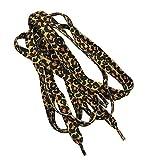 Ogquaton Flat Dot Black Brown Lacets Leopard classiques Sangles en polyester à transfert thermique Imprimés léopard Pratiques et populaires