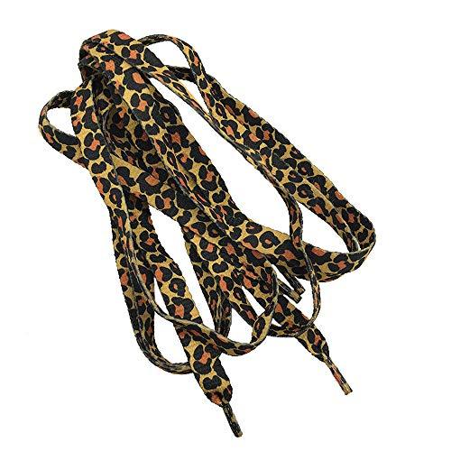 Ogquaton Flat Dot Schwarz Braun Klassische Leopard Schnürsenkel Thermotransfer Polyester Gurt Leopardenmuster Praktisch