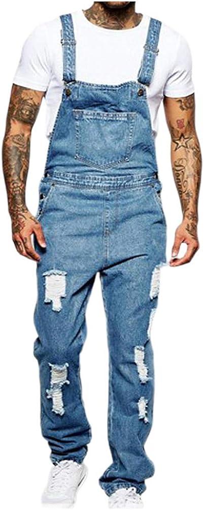 Baltimore Philadelphia Mall Mall Aiwpstoin Men's Denim Bib Overalls Sli Jumpsuit Workwear Fashion