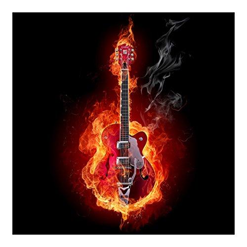 Vliestapete Gitarre in Flammen, HxB: 240cm x 240cm