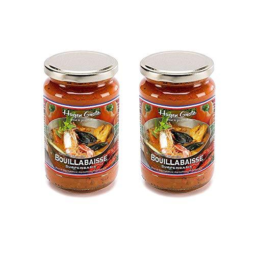 Hagen Grote Bouillabaisse-Suppenbasis, 500 ml Glas, zur Zubereitung einer original französischen Fischsuppe aus Marseille oder für Fischsaucen