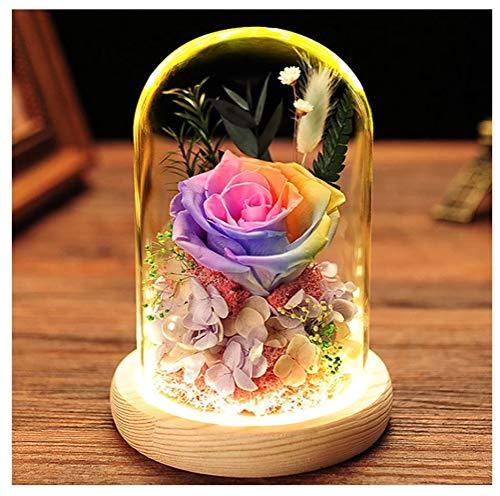 ZHFZD creatief decoratief geschenk, glazen lampenkap, eeuwige roze, modedecoratie, geschenkdecoratieZHFZD