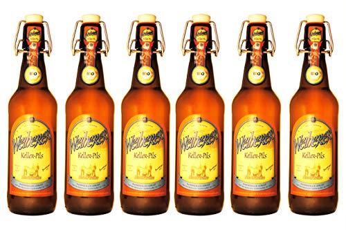 Brauerei Kundmüller - Weiherer Kellerpils (6 Flaschen) I Bierpaket von Bierwohl