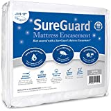 Queen (9-12 in. Deep) SureGuard Mattress Encasement - 100% Waterproof, Bed Bug Proof, Hypoallergenic - Premium Zippered Six-Sided Cover