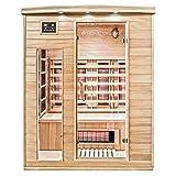 Home Deluxe – Infrarotkabine Gobi L – Vollspektrumstrahler, Holz: Hemlocktanne, Maße: 153 x 110 x 190 cm | Infrarotsauna für 2-3 Personen, Sauna, Infrarot, Kabine