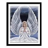 DIY Paint by Numbers for Adults Beginner Angel Girl Canvas Oil Painting Kit for Kids & Adults,Drawing Paintwork with Paintbrushes,Acrylic Pigment 16x20inch