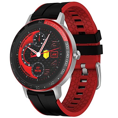 HAOQIN Reloj Inteligente Deportivo Smartwatch - Pulsera Actividad Smart Impermeable IP68 con Pulsómetro Calorías Mapa GPS Monitor de Sueño Relojes Hombre Mujer Regalos para iOS y Android (Plata)
