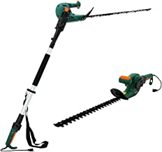 DOEWORKS Corded 5 AMP Multi-Angle Cutting 3 in 1 Long Reach Electric Hedge Trimmer on Pole with Rotating Handle, 20